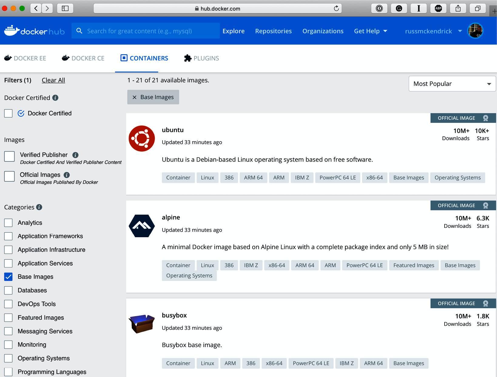 精通Docker第四版 – 第三章 存储和发布镜像