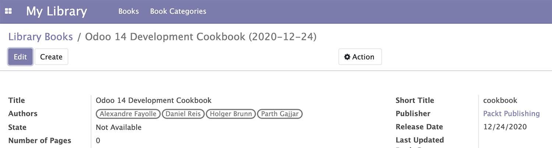 Odoo 14开发者指南第六章 管理模块数据
