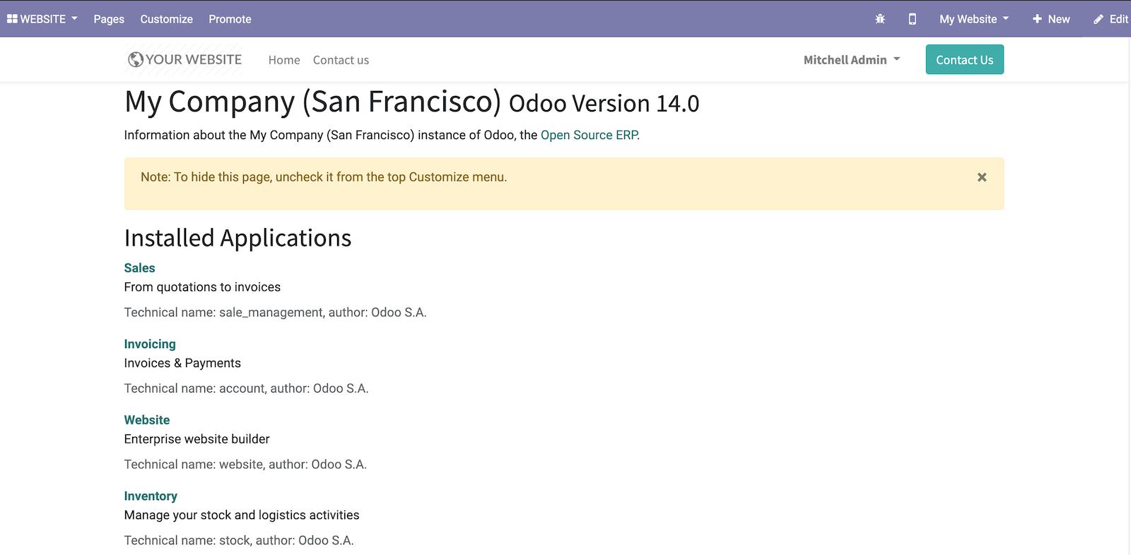 Odoo 14开发者指南第十三章 Web服务端开发