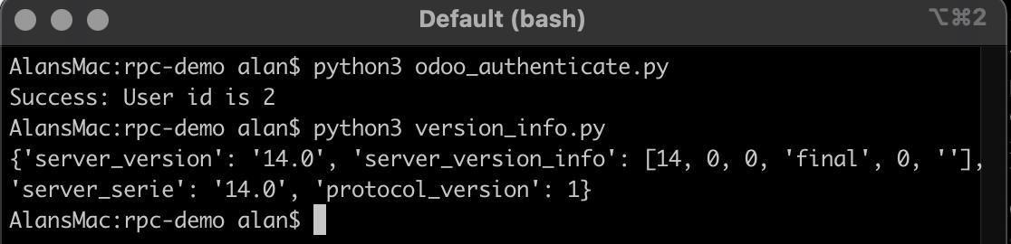 Odoo 14开发者指南第二十章 Odoo中的远程过程调用(RPC)